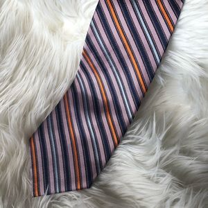 Hilary Radley 100% silk striped tie